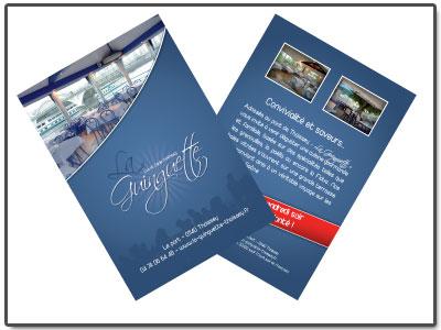 Cartes de visite du restaurant La Guinguette