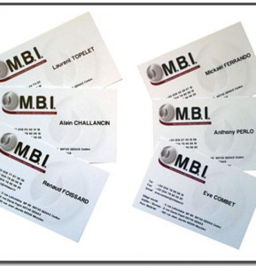 Cartes de visite MBI