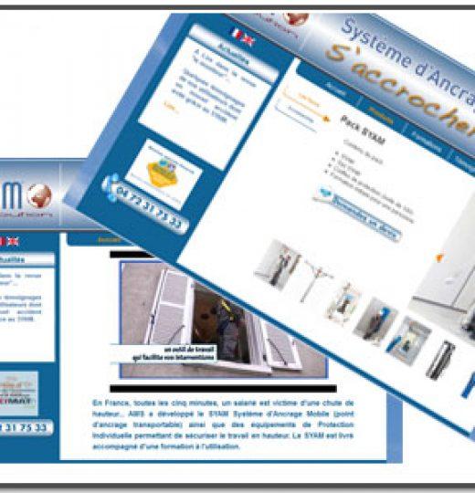 Site Internet catalogue SYAM