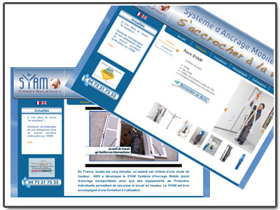 Site Internet catalogue SYAM