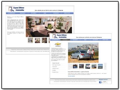 Site Vitrine automobile
